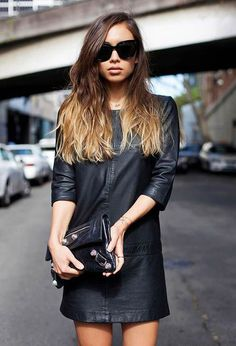 How to Wear a Leather Dress - DesignerzCentral