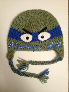 Ninja Turtle Beanie www.mommyzbib.etsy.com