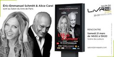Rencontre avec Éric-Emmanuel Schmitt & Alice Carel  au #SDL2015