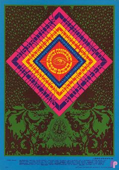 "PG124 - ""Big Brother and the Holding Company at Avalon Ballroom"" poster by Victor Moscoso (1967)"