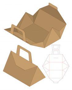 Box design box template design cut die packaging Vectors, Photos and PSD files Food Box Packaging, Food Packaging Design, Paper Packaging, Diy Gift Box, Diy Box, Visual Design, Karton Design, Paper Box Template, Creative Box