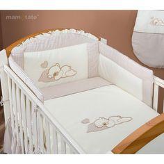 Linge de lit bébé taupe Ours Sleeping pas cher