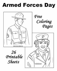 Free military coloring pages - Army, Navy, Air Force and Marines ...