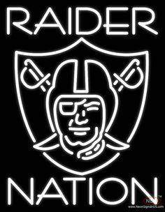 Oakland Raiders Nfl Raider Nation Real Neon Glass Tube Neon Sign,Affordable and durable,Made in USA,if you want to get it ,please click the visit button or go to my website,you can get everything neon from us. based in CA USA, free shipping and 1 year warranty , 24/7 service