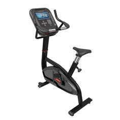 The 4UB Upright Bike from Star Trac is a light institutional rated stationary exercise cycle offering 40 levels of electronic resistance for cardiovascular exercise. The easy-up seat adjust allows simple seat position changes to fit exercisers of different heights. Star Trac's SOFT TRAC pedals are cushioned to keep pressure off the bottoms of the feet during pedaling.