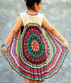 festival wear crochet vest