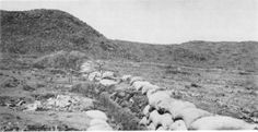 The Boer trench at the Battle of Magersfontein contributed to the surprise defeat of the Highland Brigade on 11 December 1899 during the Second Boer War. World Conflicts, The Siege, History Online, African History, Military History, Trench, South Africa, Two By Two, Battle