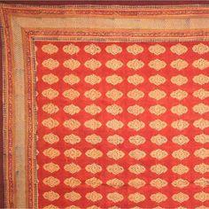 Kensington Block Print Bedspread Cotton Bedding Coverlet Queen Size Bed Sheets, Twin, Full Size Dorm Decor Bach Blanket or Sheet (