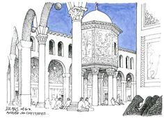Syrie, 2010 Damas, mosquée des Omeyyades.