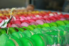 #colorful #colourful #delicious #depth of field #desserts #food #macaroons #market #pastries #sweets
