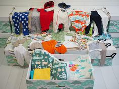 Finnish Baby Box of 50 items   Baby Gift with everything a baby needs in the beginning, including a bed!