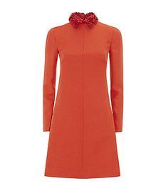 Valentino Crepe Couture Collared Dress