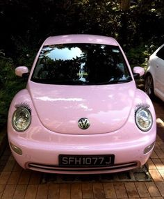 Find images and videos about cute, pink and car on We Heart It - the app to get lost in what you love. Pink Love, Pale Pink, Pretty In Pink, Purple, Color Magenta, Color Rosa, Pink Volkswagen Beetle, Mobiles, Wedding Tattoos