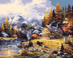 Plaid Creates Paint by Number Kit 16 by 20Inch 21778 Mountain Hideaway >>> Want to know more, click on the image.