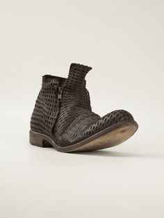 Love this: Perforated Ankle Boots @Lyst