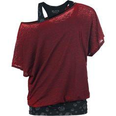 2 In1 Skull Bat Burnout Shirt - T-shirt van Black Premium by EMP