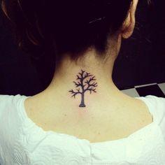 tree tattoos neck