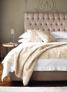 Explore The White Company's new Autumn collections of stylish clothing, luxurious home pieces and quality white bed linen. Taupe Bedroom, Bedroom Bed, Dream Bedroom, Bedroom Decor, Pretty Bedroom, Design Bedroom, Bed Room, Master Bedroom, Sweet Home