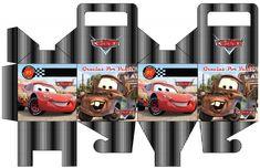 Molde de caja souvenirs de Cars para imprimir