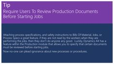 Require Users To Review Production Documents Before Starting Jobs