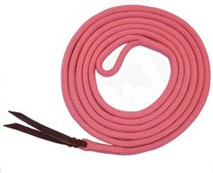 """Premium 9/16"""" Double Braid Polyester Yacht Rope Horse Lead Rope with Eye Spliced Loop (Pink, 12ft.)"""