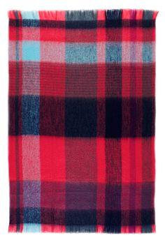 St Albans Textiles |   Mohair Pink Craze Throw Rug