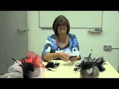 Learn how to make a simple fascinator with the UK's largest millinery supplier Parkin Fabrics.