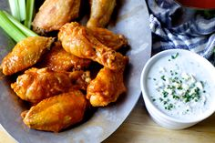 """smitten kitchen - baked buffalo wings: My friend Art Bovino is obsessed with Buffalo wings. (I can hear you saying """"SAME,"""" by… - View Smitten Kitchen, Ciabatta, Baked Buffalo Wings, Buffalo Chicken, Cooking Recipes, Healthy Recipes, Healthy Breakfasts, Thai Recipes, Healthy Snacks"""