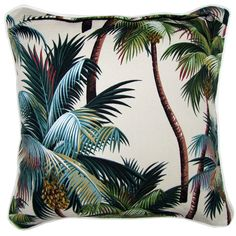 tropical cushion - fun summer prints look for palm trees, flamingos, corals, we…