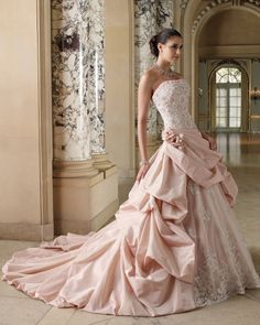 black & pink rocker wedding gowns | Meaning of the Colored Wedding Dresses | WeddingElation