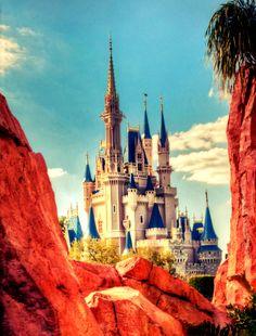 Cinderella Castle from Tommorowland Disney World Fl, Disney Parks, Disney Pixar, Disney Love, Disney Magic, Disney Stuff, Cinderella Castle, Tokyo Disneyland, Disney Addict