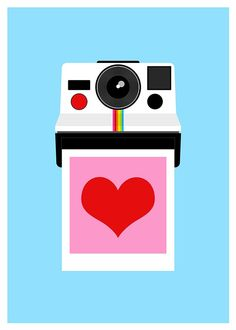"""Polaroid """"Instant Love"""" poster by Yumalum"""