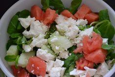 Low Carb Salat mit Schafskäse und Melone