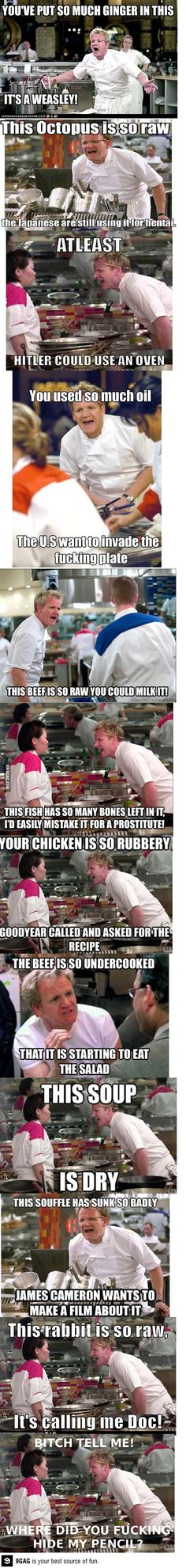 Ramsay at his best // funny pictures - funny photos - funny images - funny pics - funny quotes - Really Funny, Funny Cute, The Funny, Funny Jokes, Hilarious, Inappropriate Jokes, Haha, Gordon Ramsey, Funny Pins