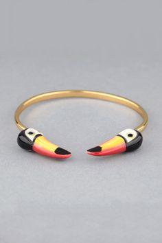 Bracelet doré Toucan