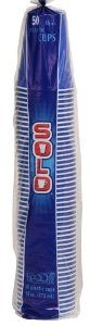 Solo 16-Ounce Plastic Party Cup, Blue, 50-Count Packages (Pack of 4) by SOLO. $91.83. Blue in color. 50 cups per bag. Contains a pack of 4. Plastic party cups. Solo 16-ounce plastic party cup for cold drinks. There are 50 cups per bag and the cups are blue in color.
