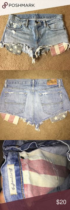 Ralph Lauren shorts boyfriend style shorts 🇺🇸.... i think they were 4th of july special edition, hard to let them go but they are so big on me now... worn probably 3 times in the past Denim & Supply Ralph Lauren Shorts Jean Shorts