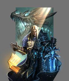 World of Warcraft - Arthas, The Lich King, Amin Talebi Wow Of Warcraft, World Of Warcraft 3, World Of Warcraft Characters, Warcraft Art, Fantasy Characters, Copic, Arthas Menethil, World Of Warcraft Wallpaper, Lich King