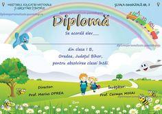 Diploma semipersonalizata absolvire clasa I (B214)