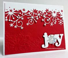Double C Creations: Christmas Cards WPlus9 Seasonal Sentiments, Memory Box Frostyville