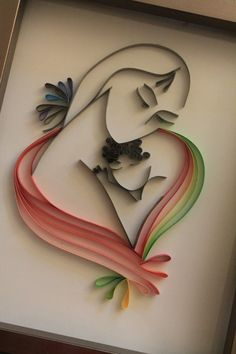 Mother's day gift Quilled Mother and by Especially4UHandmade