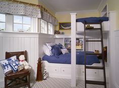 Great loft bed over built in bed Bed Design, Home, Cool Bunk Beds, Awesome Bedrooms, Kid Beds, Loft Spaces, Cool Bedrooms For Boys, Built In Bed, Kids Bedroom