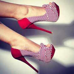 Zapatos de mujer - Womens Sheos - red