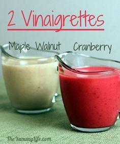 Two Seasonal Salad Vinaigrette Recipes--Maple Walnut and Cranberry
