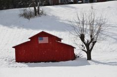 Beautiful winter scene from the Webster and Dillsboro area of the North Carolina mountains. #redbarn #winter