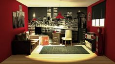 chambre ado fille garon new york londres rock decorating ideas pinterest bedrooms room and kids rooms