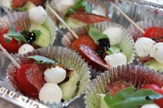 Easy Cold Appetizers   Antipasto appetizers for a crowd.   FOOD