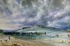 Old Sarum by John Constable ~ watercolor landscape