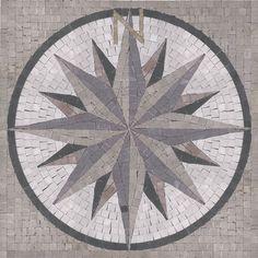 "Compass 36"" x 36"" by Appomattox Tile Art"