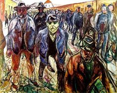 Trademark Art 'Workers On Their Way Home' by Edvard Munch Print on Wrapped Canvas William Turner, Google Art Project, Edward Munch, Painting Prints, House Painting, Art Print, Karl Schmidt Rottluff, Canvas Art, Canvas Prints